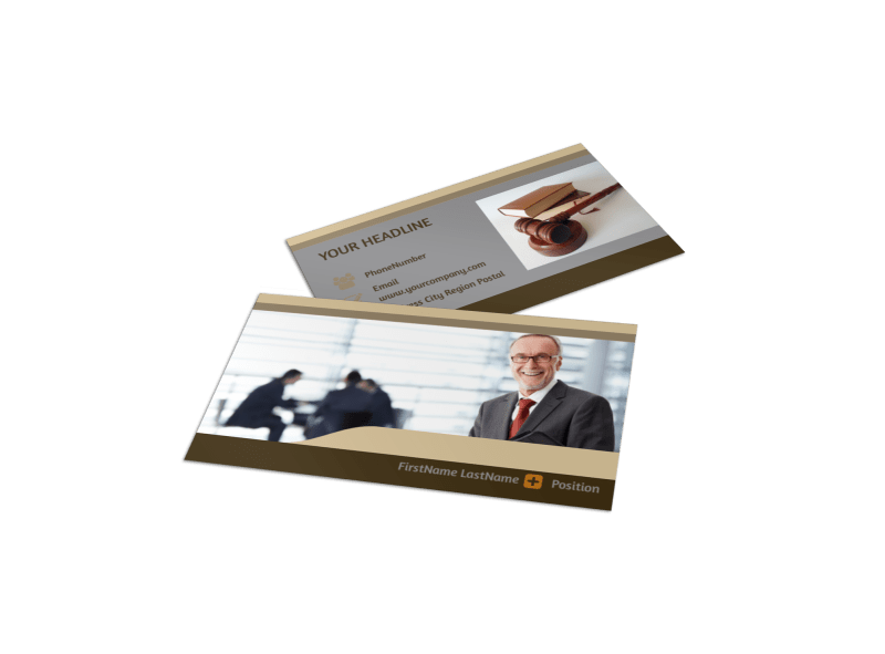 Criminal Law Defense Business Card Template Preview 1