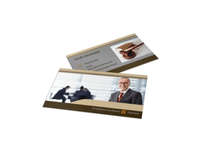 Criminal Law Defense Business Card Template preview