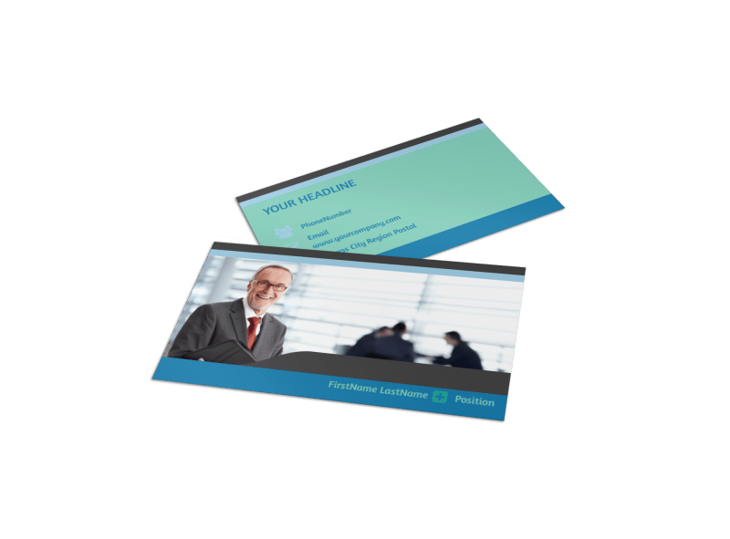 Bookkeeping Business Card Template Preview 1