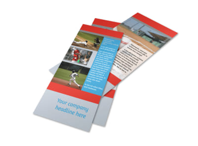 Top Swing Baseball Camp Flyer Template 2 preview