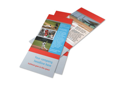 Top Swing Baseball Camp Flyer Template 2