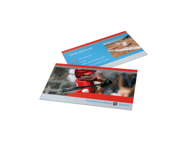 Top Swing Baseball Camp Business Card Template
