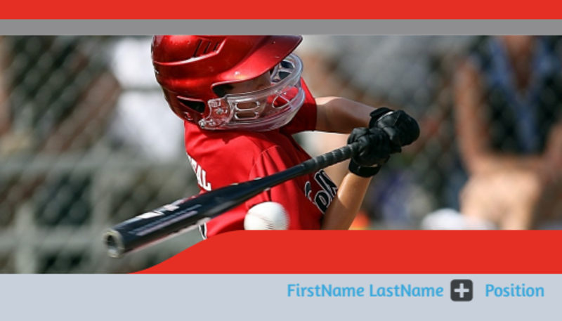 Top Swing Baseball Camp Business Card Template Preview 2