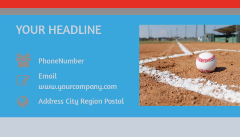 Top Swing Baseball Camp Business Card Template Preview 3