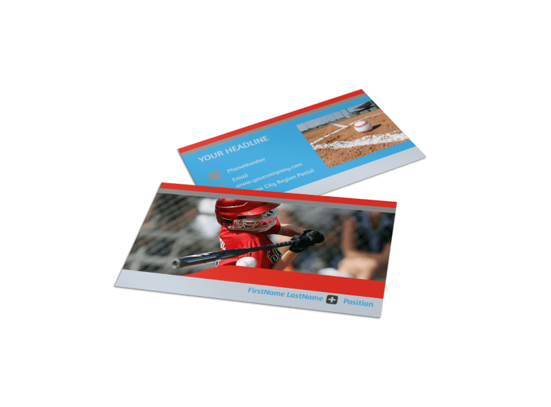 Top Swing Baseball Camp Business Card Template Preview 1