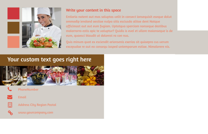 Catering & Event Planning Postcard Template Preview 3