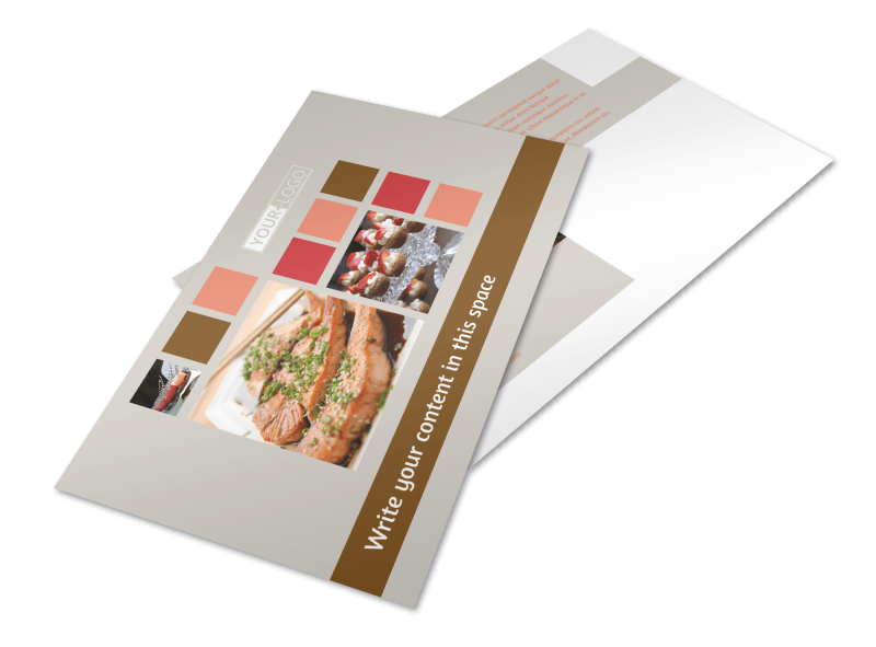 Catering & Event Planning Postcard Template Preview 1