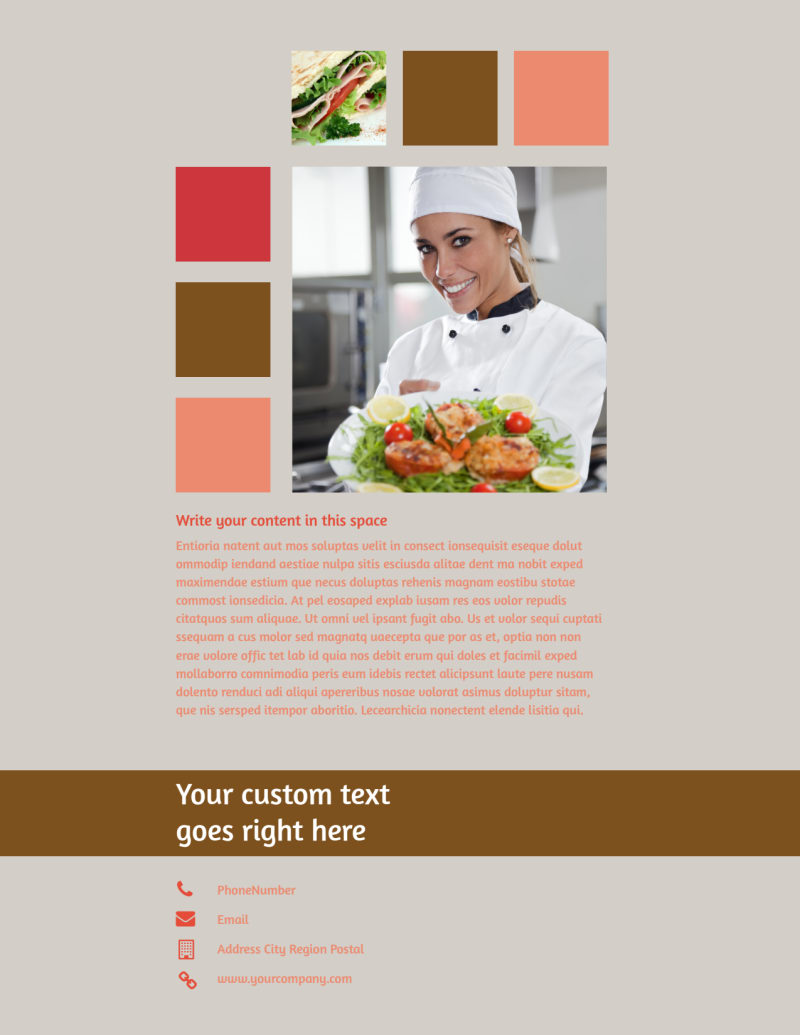 Catering & Event Planning Flyer Template Preview 3