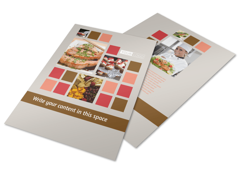 Catering & Event Planning Flyer Template Preview 1