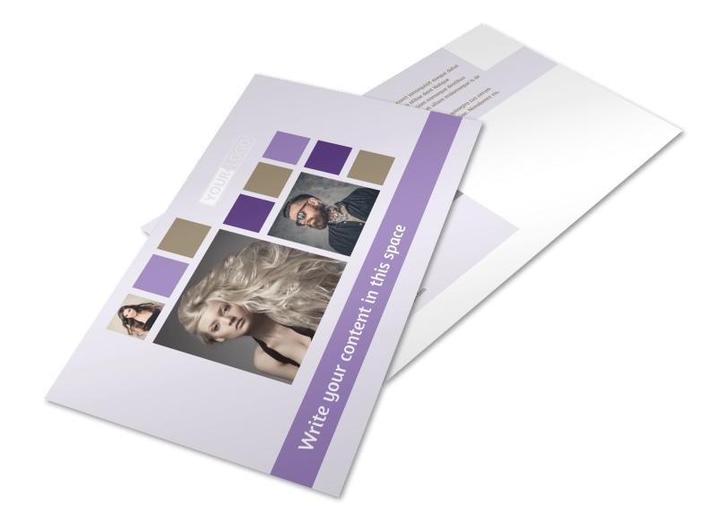 Creative Hair Salon Postcard Template Preview 4