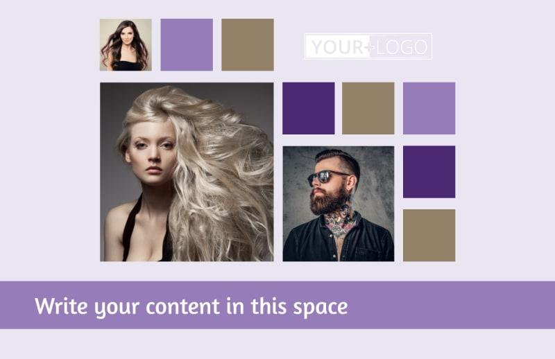 Creative Hair Salon Postcard Template Preview 2