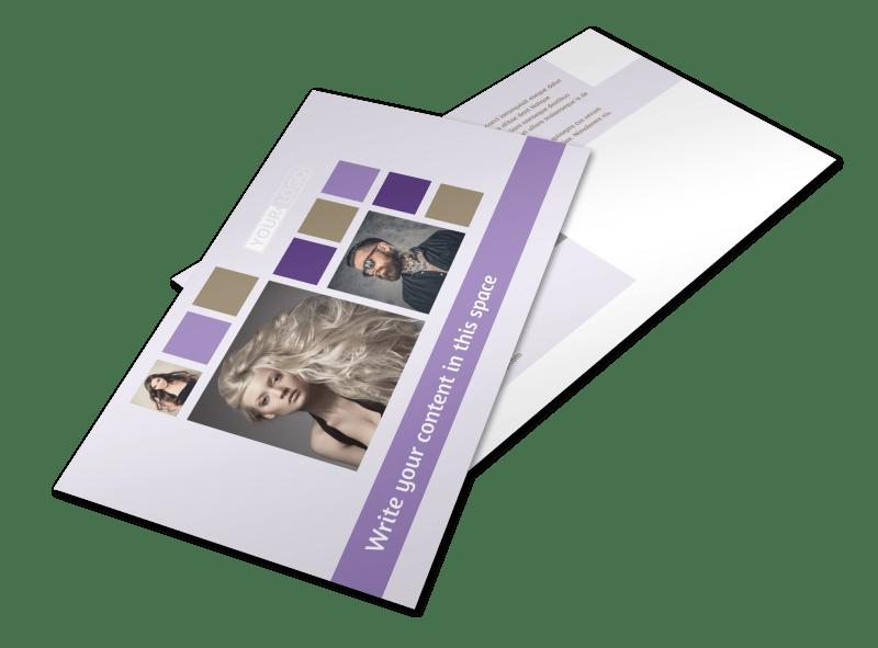 Creative Hair Salon Postcard Template Preview 1