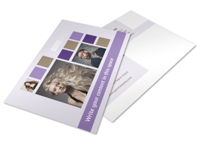 Creative Hair Salon Postcard Template 2