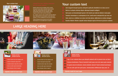 Catering & Event Planning Brochure Template Preview 2