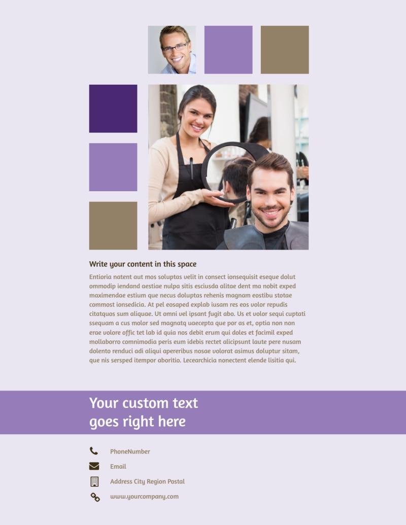 Creative Hair Salon Flyer Template Preview 3