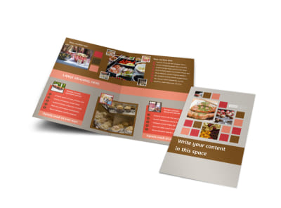 Corporate Event Planner & Caterer Bi-Fold Brochure Template preview