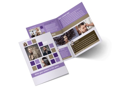Creative Hair Salon Bi-Fold Brochure Template 2