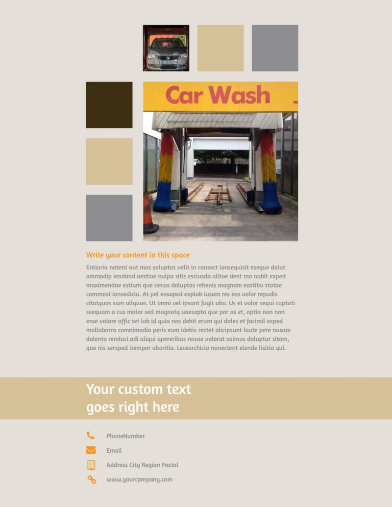 Clean Car Wash Flyer Template Preview 3