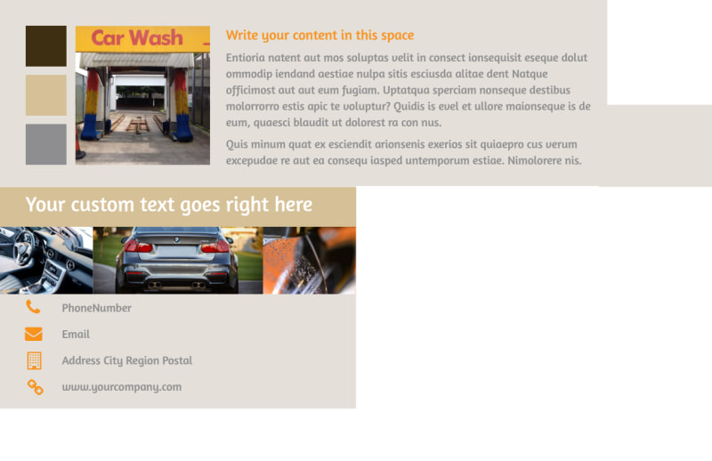 Clean Car Wash Postcard Template Preview 3