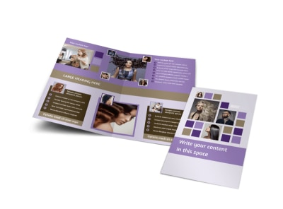 Creative Hair Salon Bi-Fold Brochure Template