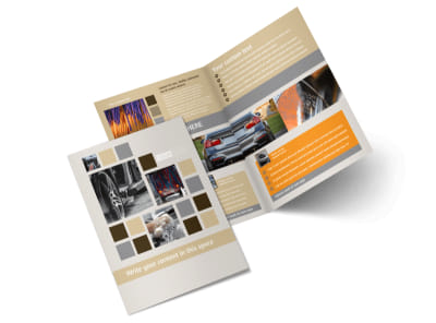 Car Wash Bi-Fold Brochure Template 2