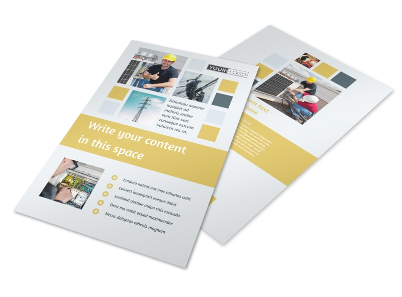 Electrical Service Flyer Template 3