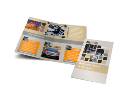 Car Wash Bi-Fold Brochure Template preview