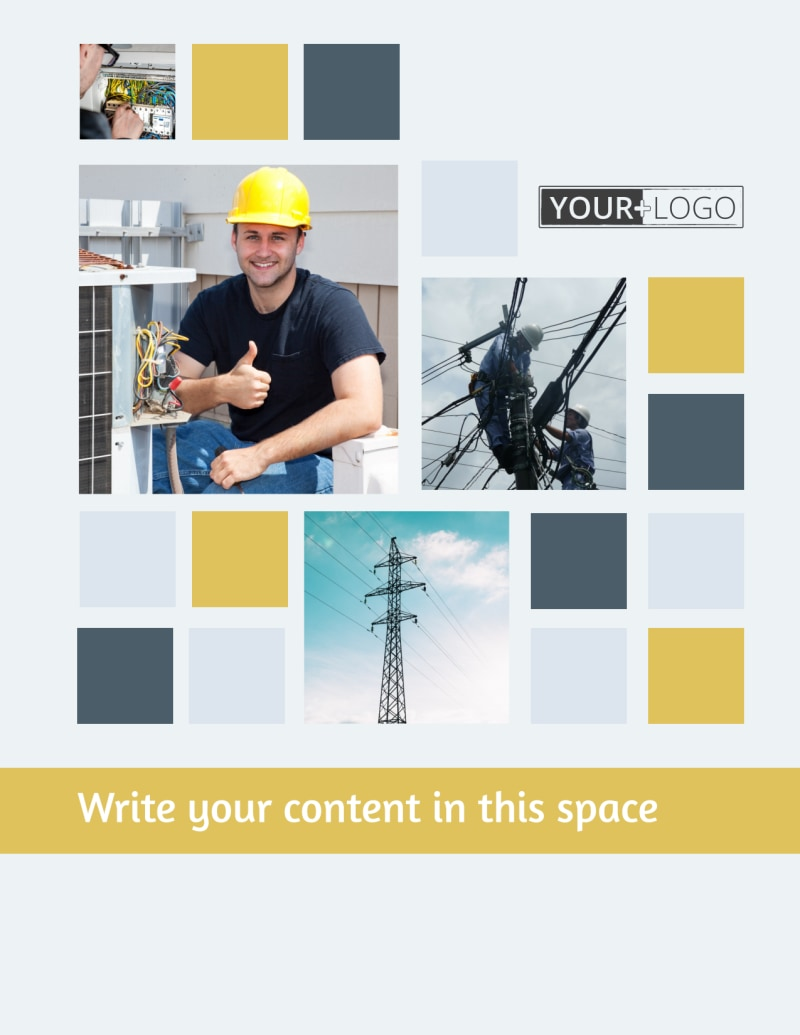 Electrical Service Flyer Template Preview 2