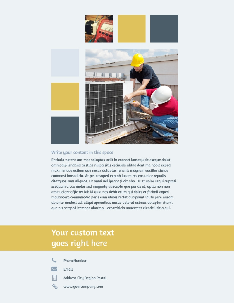Electrical Service Flyer Template Preview 3