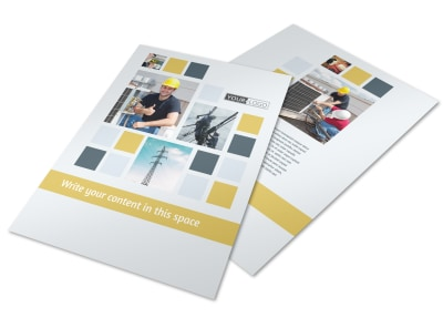 Electrical Service Flyer Template preview