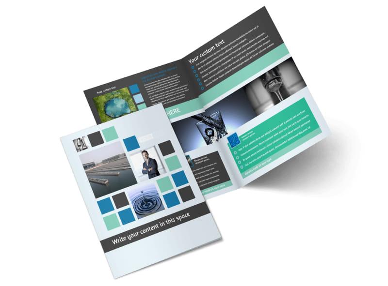 Water Disposal Bi-Fold Brochure Template 2