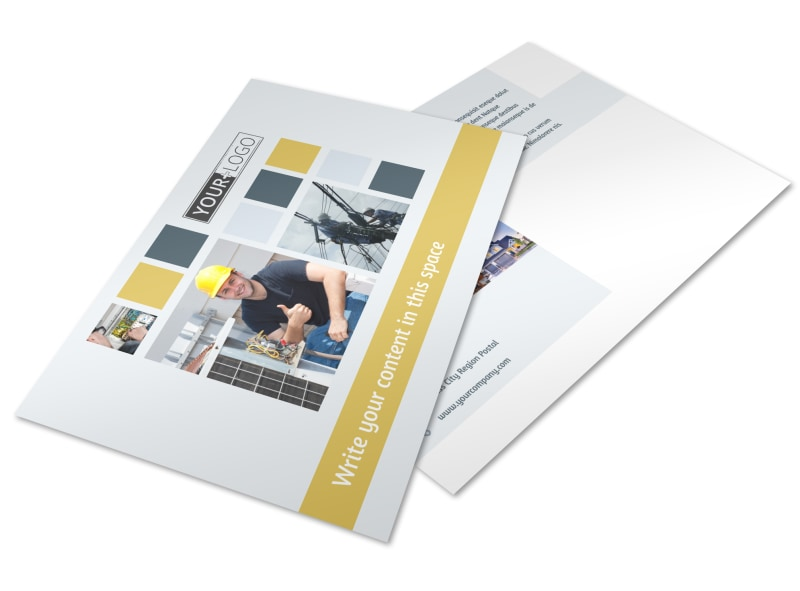 Electrical Service Postcard Template Preview 4