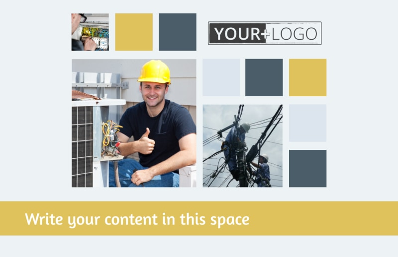 Electrical Service Postcard Template Preview 2