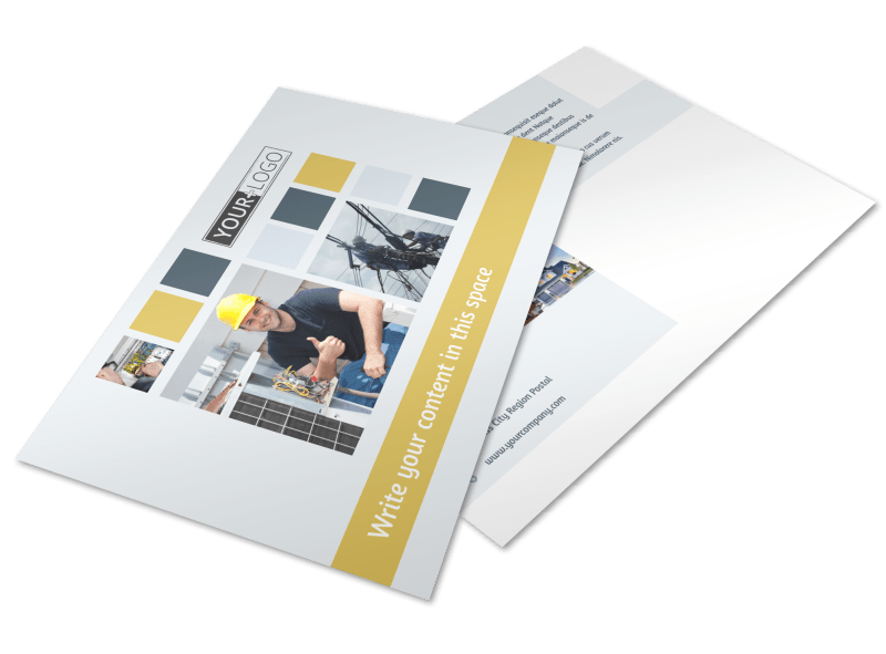 Electrical Service Postcard Template Preview 1
