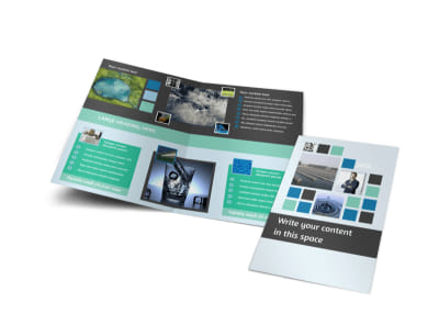 Water Disposal Bi-Fold Brochure Template