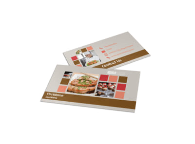 Corporate Event Planner & Caterer Business Card Template preview