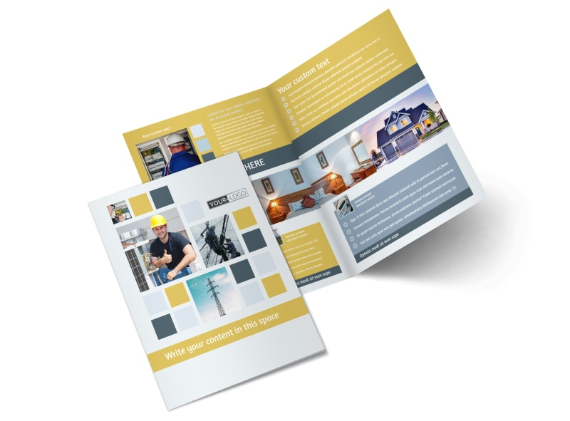 Electrical Service Bi-Fold Brochure Template 2