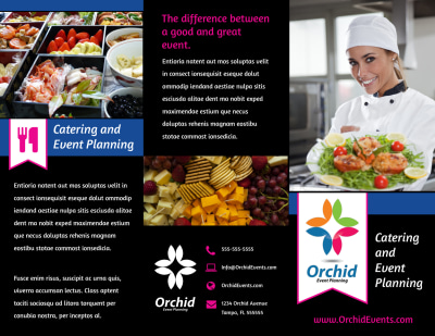 Catering & Event Planning Brochure Template Preview 1
