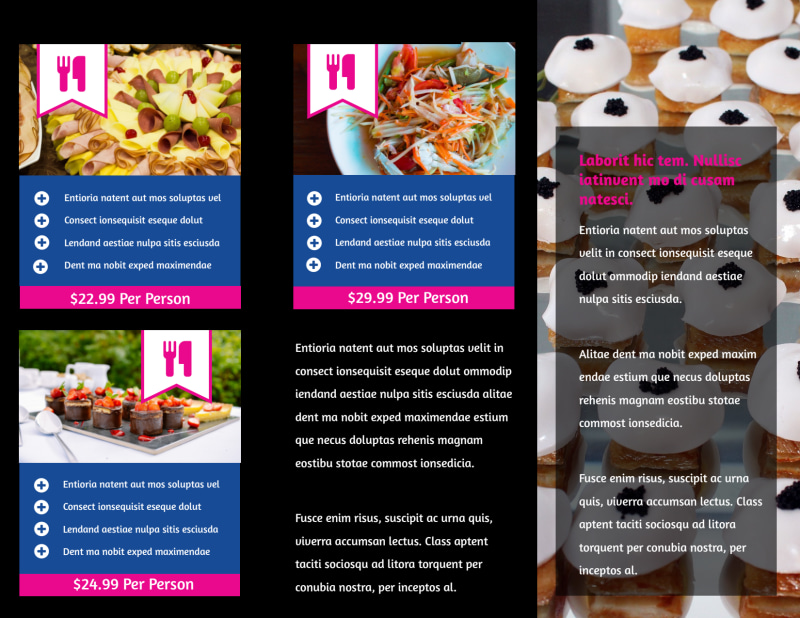 Catering & Event Planning Brochure Template Preview 3