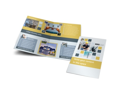 Electrical Service Bi-Fold Brochure Template preview