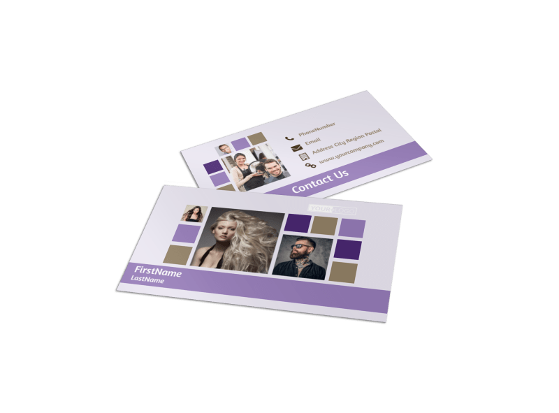 Creative Hair Salon Business Card Template Preview 1