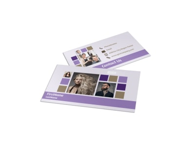 Creative Hair Salon Business Card Template preview