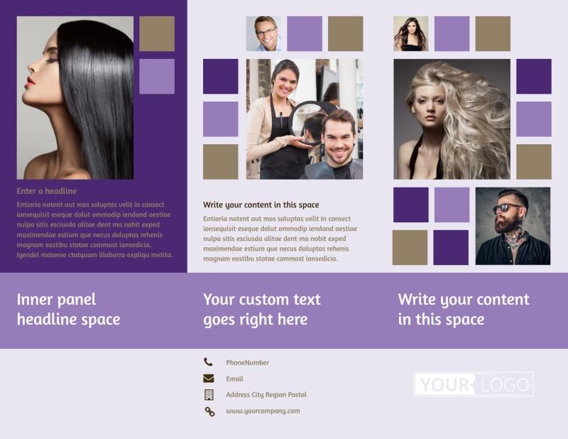 Creative Hair Salon Brochure Template Preview 2