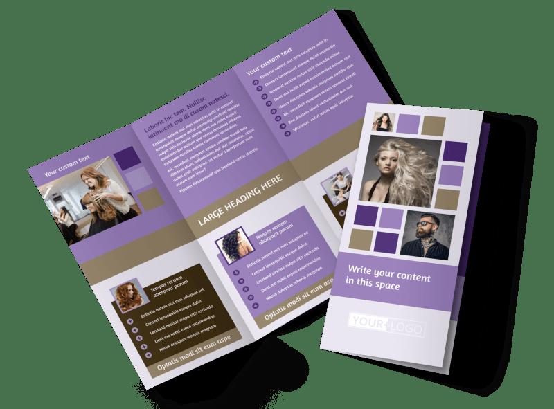 Creative Hair Salon Brochure Template Preview 1