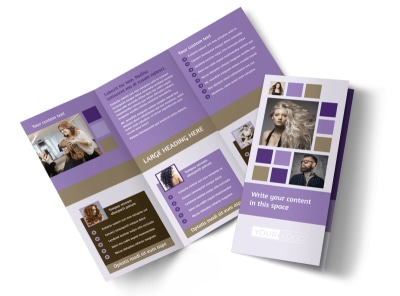 Creative Hair Salon Tri-Fold Brochure Template preview