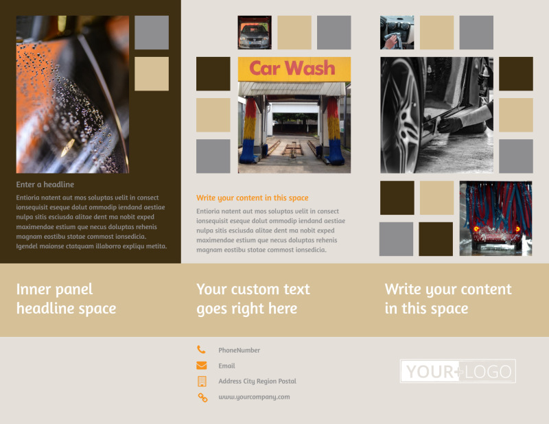 Clean Car Wash Brochure Template Preview 2