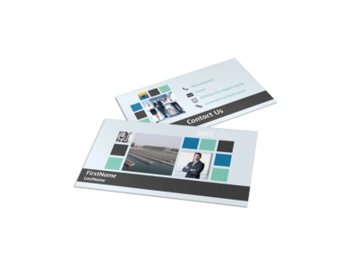 Water Disposal Business Card Template preview