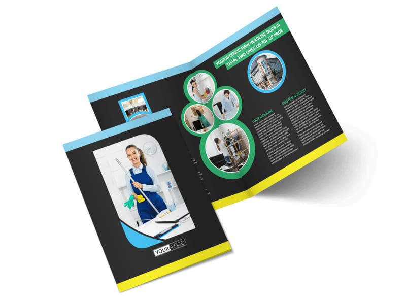 Commercial Office Cleaning Bi-Fold Brochure Template 2