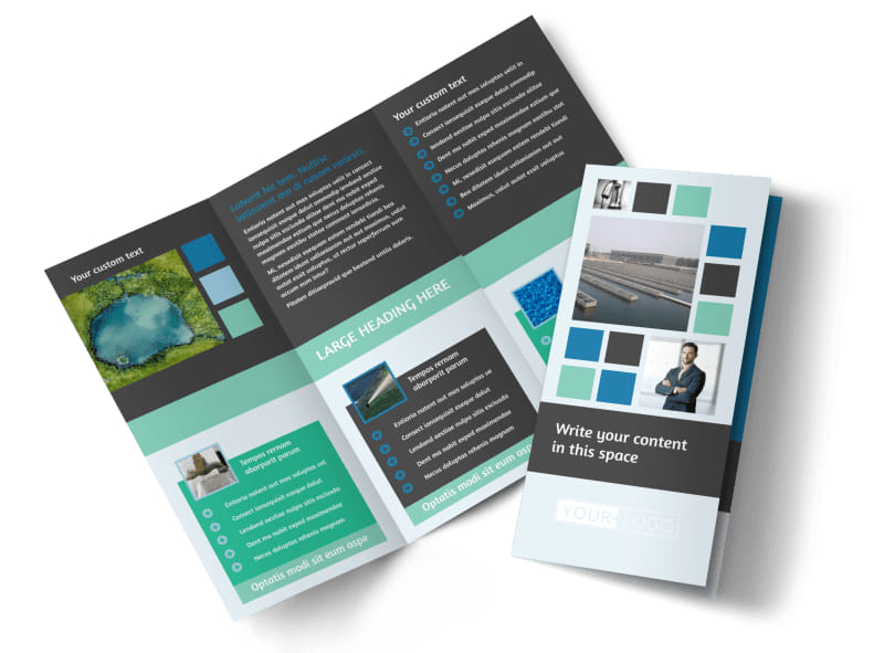 Water Disposal Tri-Fold Brochure Template