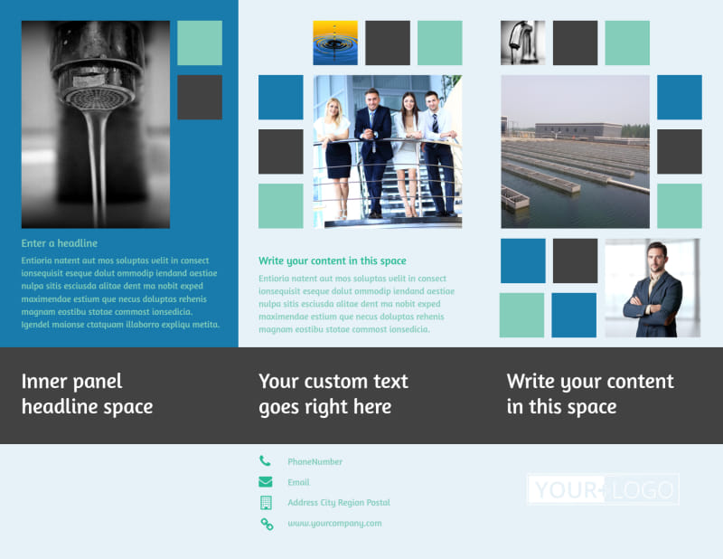 Water Disposal Brochure Template Preview 2